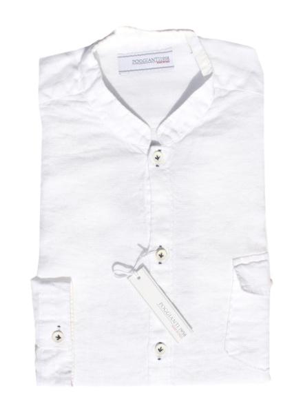 Poggianti バンドカラーシャツ